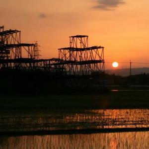 夕陽🌇@近所の工事現場