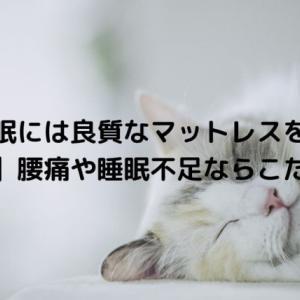 快眠には良質なマットレスを!【必読】腰痛や睡眠不足ならこだわろう