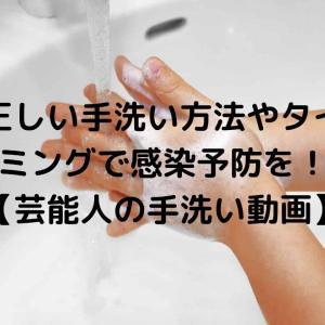 正しい手洗い方法やタイミングで感染予防を!【芸能人の手洗い動画】
