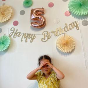 5歳のお誕生日/お庭プール