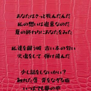 初期の頃を振り返って。Twitterに「瑠花」さんの詩をご紹介しました。