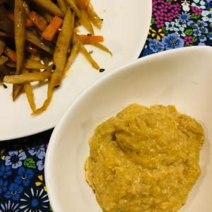 ミキサー食レシピ:きんぴらごぼうを柔らかく食べる