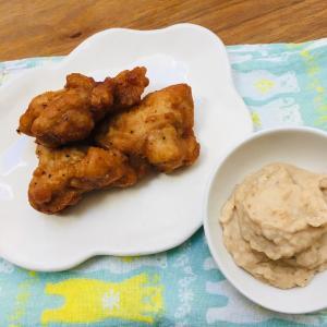 【ズボラ介護食】冷凍食品の唐揚げをミキサー食に。