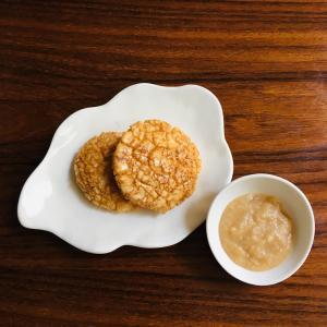 おせんべいの歌舞伎揚げをミキサー食にして食べる!