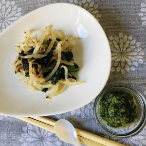 ミキサー食:もやしとほうれん草の磯和え & 使える福祉サービスは?