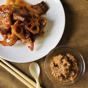 介護食:蓮根とサバのケチャップ炒め & ヘルパーさんとの入浴