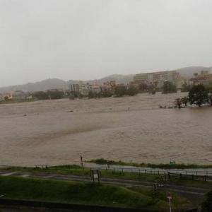 台風で川が暴走してるうぅ~。氾濫の危機!?