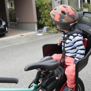 チャイルドシート _ お父さん、これで一緒にサイクリングできるぞ