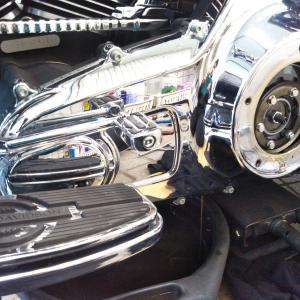 #バイク屋の日常 #ハーレーダビットソン #ロードキング #プライマリーオイル交換