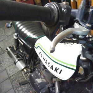 #バイク屋の日常 #カワサキ #250TR #クラッチレバー交換