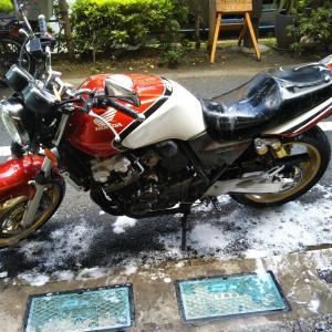 #バイク屋の日常 #ホンダ #CB400SF #VTEC #洗車 #洗車の季節