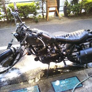 #バイク屋の日常 #ヤマハ #SR400 #洗車 #袋 #有料