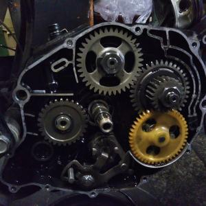 #バイク屋の日常 #ヤマハ #TW200 #エンジンオーバーホール #クラッチ