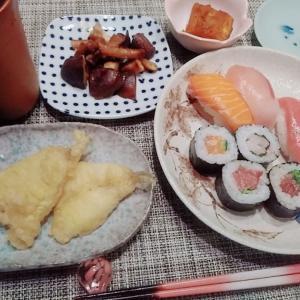 お寿司と熱燗