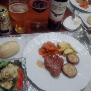 ラムと野菜色々おうちディナー