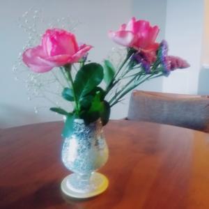 お花と食前ワイン