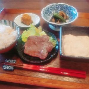 牛タンと麦とろご飯