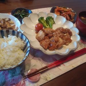 鶏ムネの甘酢煮でお昼ごはん