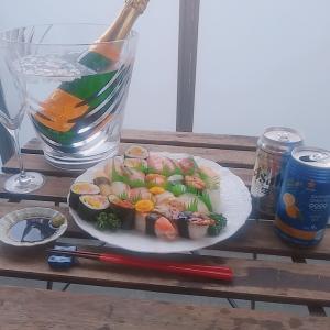 ベランダお寿司