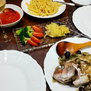 鯛の南欧風と南イタリアワイン