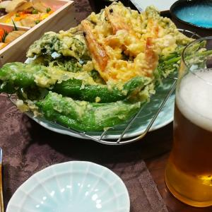 天ぷらと、手まり寿司弁当