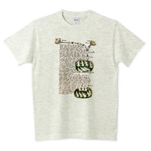 ヴォイニッチ手稿 Voynich Manuscript 140P – 生物学 未解読文字 古文書 Tシャツ