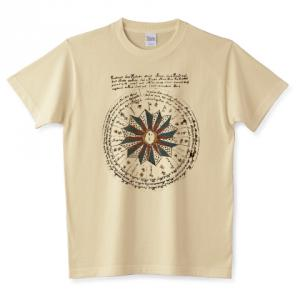 ヴォイニッチ手稿 Voynich Manuscript 120P – 天文学 未解読文字 古文書 Tシャツ