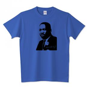 Martin Luther King, Jr. キング牧師 アメリカ合衆国 黒人解放運動 指導者 歴史人物Tシャツ Historical Figures 101