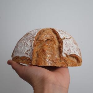 (レシピあり)自家製天然酵母液で焼くカンパーニュ。ストレート法、長時間発酵、鍋焼きパン。