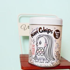 パリっと美味しいアマビエ缶入り海苔チップス
