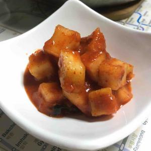 韓国家庭料理 大根キムチ カクテキを作ったよ! 깍두기