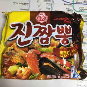 韓国インスタント麺 ジンチャンポンのクリームパスタ 오뚜기 진짬뽕 <크뽕>