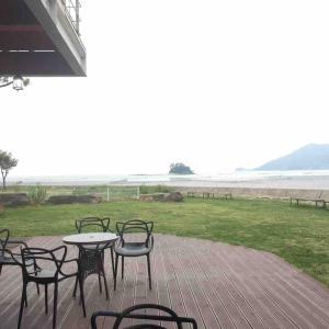 順天湾の湿地帯を見ながらのんびりできるカフェ 놀