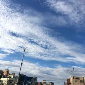 昨日のソウルの空がすごく綺麗だったよ