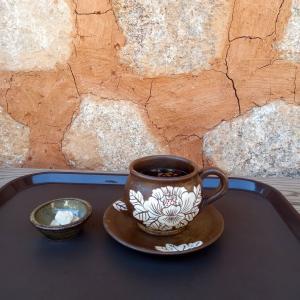 韓国のお寺 境内にある伝統茶カフェ 津覚寺蓮池院