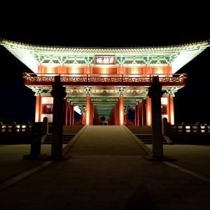 韓国地方旅行 慶州市編⑪ 2018年に復元した国内最大規模の木造の橋 月精橋 월정교