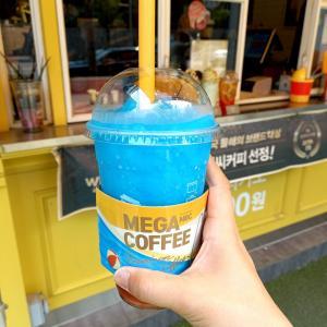 韓国メガコーヒーの夏新メニュー オーシャンスムージーを飲んでみた