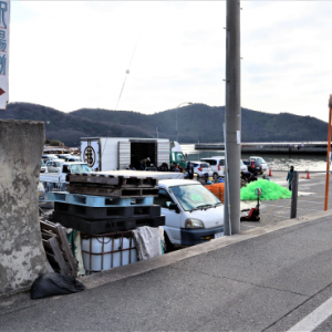 赤穂で牡蠣キャン 1 坂越漁港