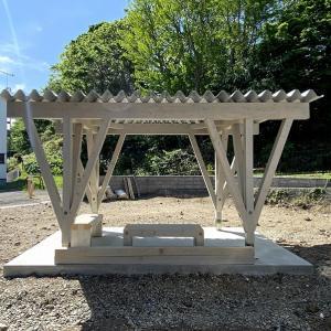 東屋の庭プロジェクト、建て方