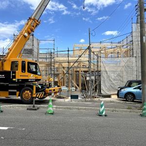 札幌市の二世帯住宅の建て方が進んでいます。