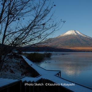 富士五湖の旅5・湖畔の朝