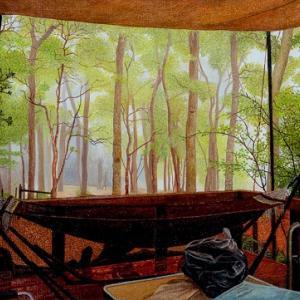 森のハンモック