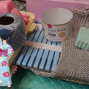 おもちゃ編み機アミーナ ダイソーのレース糸を試す