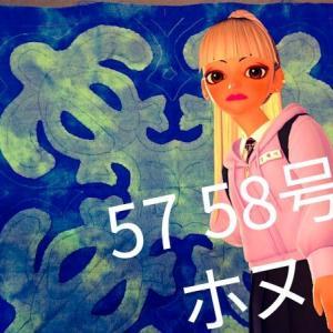 ホヌ完成★キャシーといっしょにハワイアンキルト57 58号