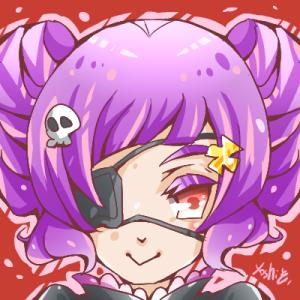 【絵】紫髪が好き。