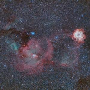 135mmでバラ星雲周辺