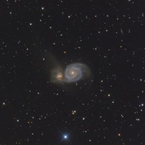 GS-200RCでM51子持ち銀河