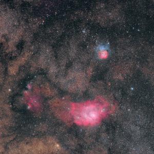 FRA400で干潟&三列星雲と、天城遠征記