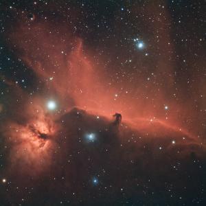 光害地のベランダで撮る馬頭星雲