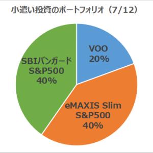 【半年で+9%】小遣い投資の運用状況報告!(7/12現在)SBIバンガード vs eMAXISスリムS&P500
